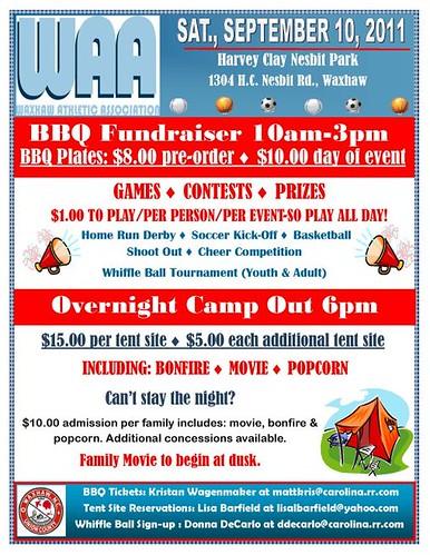 WAA Fundraiser Flyer