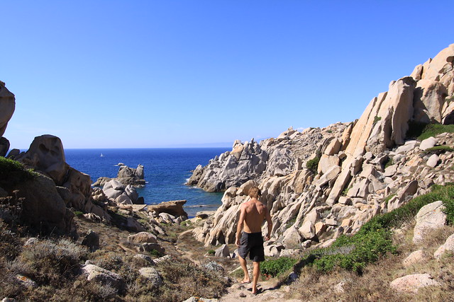 That I was about to enter a nude beach on Capo Testa, I had no idea...