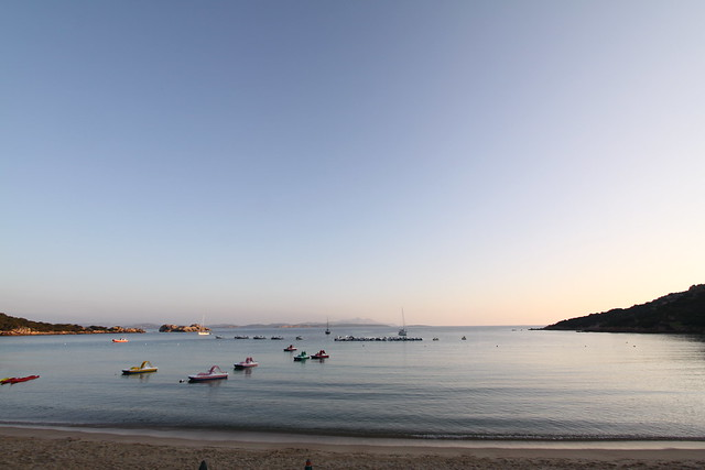 Baia Sardinia in the early morning...