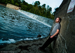 Me trying to look kind of cool (owencherry) Tags: portrait selfportrait ontario self waterfall waterloo cls strobist kwstrobist