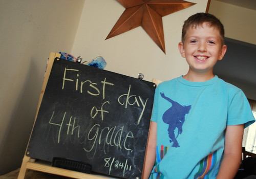 Carter's first day of 4th grade