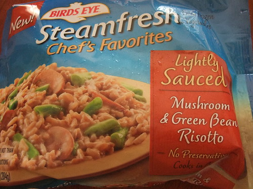 Steamfresh Mushroom & Green Bean Risotto packaging