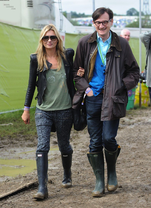 Kate Moss Hamish Bowles Glastonbury
