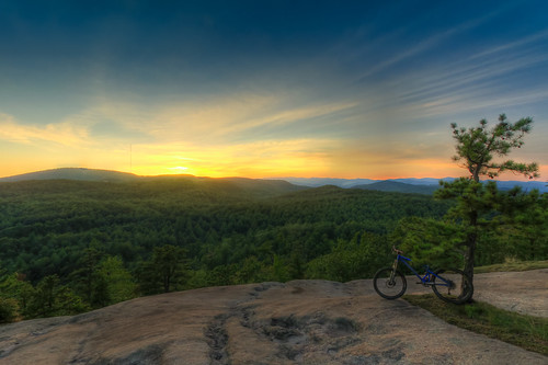 Big Rock trail overlook at sunset