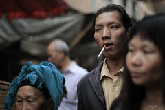 Godfather (semaryp) Tags: china green girl smile field fog kid rice market cigarette vert tibet shangrila yunnan enfant fille sourire march brume zhongdian rizire