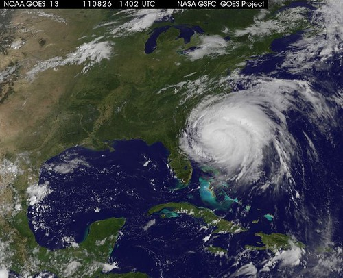 GOES hurricane Irene