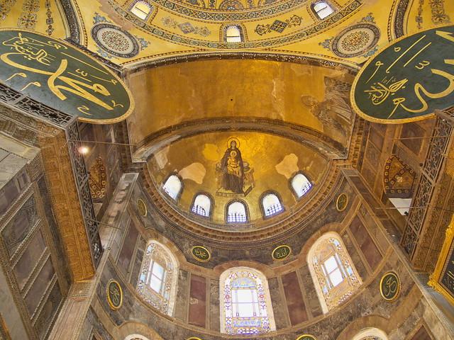 聖索菲亞教堂室內的聖母子