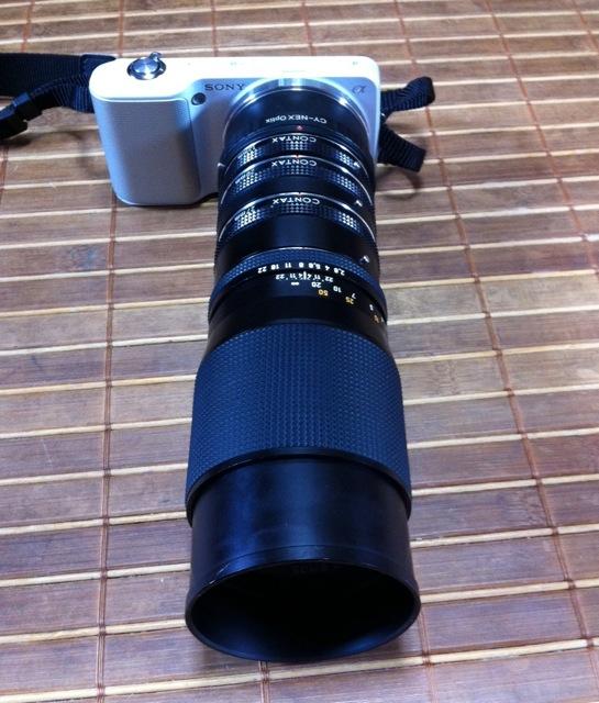 NEX-3 CONTAX Sonnar 135mm F2.8 最短撮影距離の向こう側
