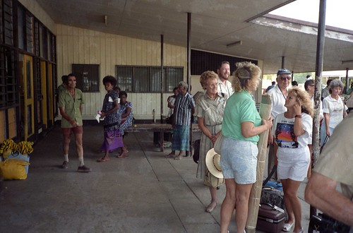 Rachel & Dee at Rabaul Airport 1989
