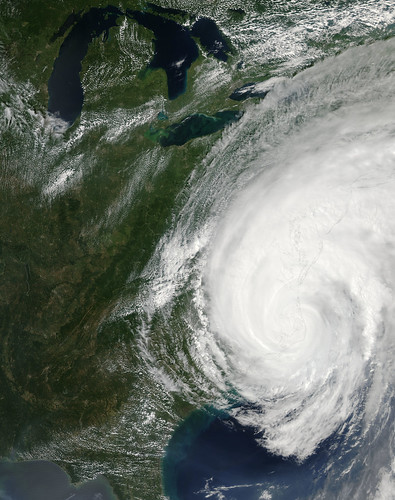 Hurricane Irene over the eastern United States
