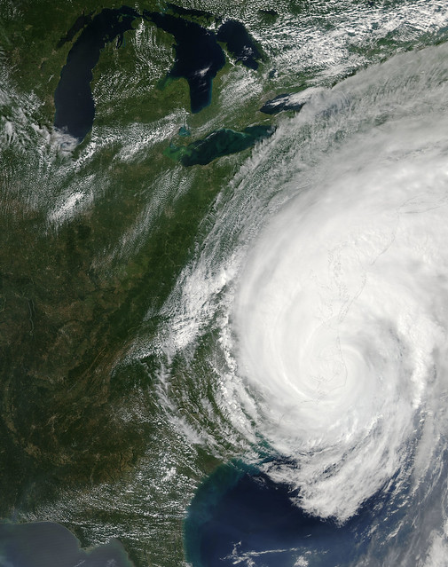 Satellite photo of hurricane Irene