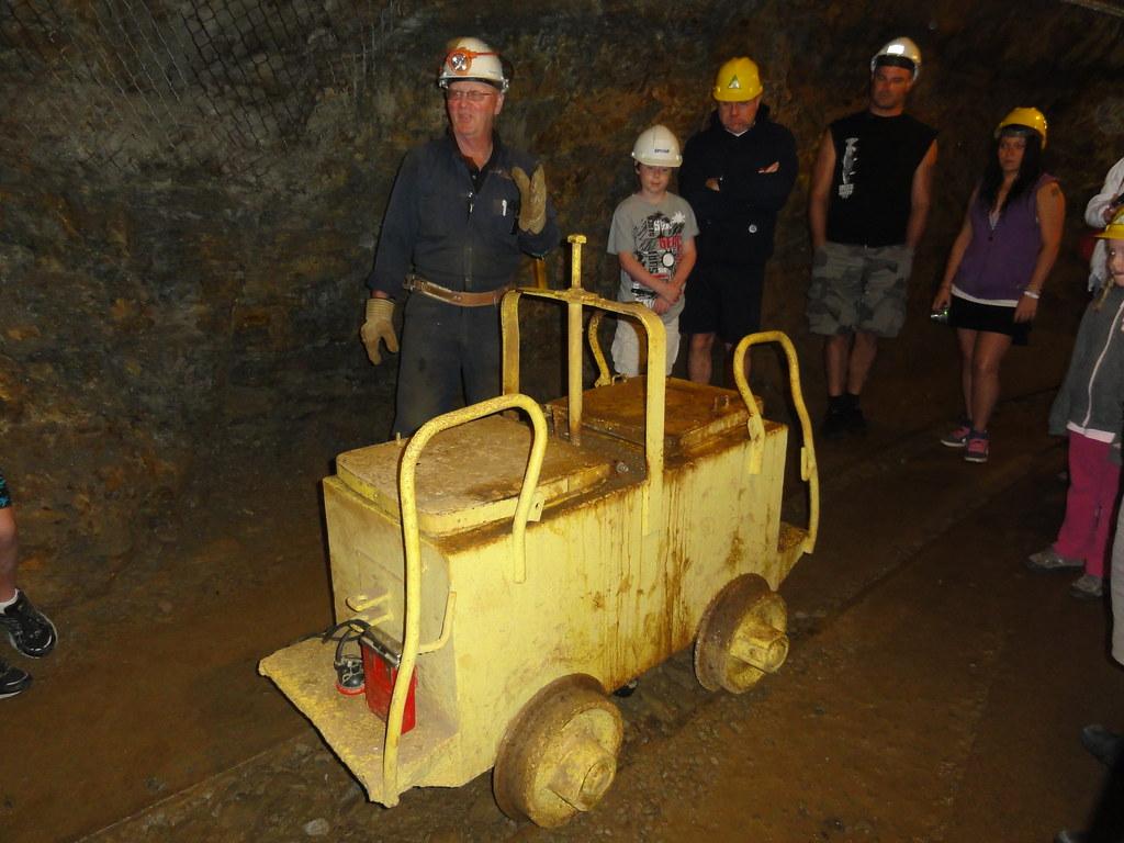 Honey wagon on Britannia Mine tour