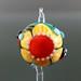 Single Bead : Ladybug Yellow Blossom