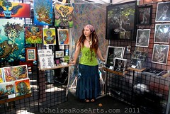 Portland Saturday Market Booth (lucidRose) Tags: paint acrylic goddess bodypaint faery portlandoregon portlandsaturdaymarket chelsearose lucidopticlab