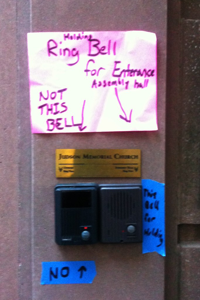 Over thinking info design on how to ring a bell #walkingtoworktoday