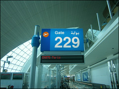 Gate 229, Flight EK075 to Paris