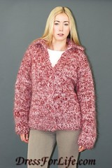 Fluffy Mohair Sweater Cardigan (dressforlife.com) Tags: sweater fuzzy handmade fluffy mohair cardigan handknitted marled dressforlifecom