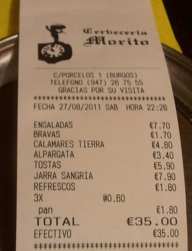 Burgos | El Morito | Ticket