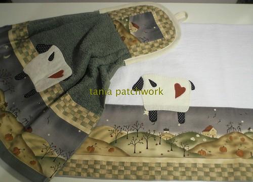 Kit cozinha Carneirinho Country Verde by tania patchwork