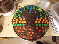 Chocolate Cake with smarties decoration