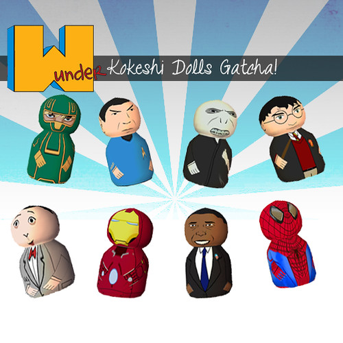 [w]under kokeshi dolls gatcha