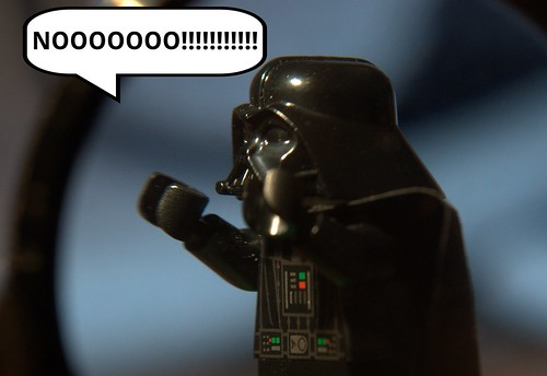 Lord Vader reacting to the announcement from Lucasfilm about upcoming changes to the Star Wars BluRay release.