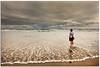 Bye, bye summer (Antonio Carrillo (Ancalop)) Tags: las sea sky españa woman cloud beach water canon de mar mujer spain europa europe chica cloudy mark playa gild galicia ii cielo 5d nublado lopez antonio lugo nube carrillo catedrales ribadeo ancalop
