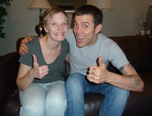 Erica and Steve-O