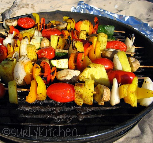 cooking kebobs