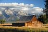 Mormon Row Barn (Dave Schreier) Tags: blue sky dave clouds barn grand row wyoming tetons schreier momon wwwdlsimagescom