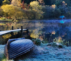 waiting in the shadows (Dove*) Tags: autumn scotland boat frost shed getty queenelizabethforestpark