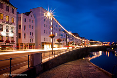 St Peter Port (kyle.wood) Tags: road cars headlights slowshutter lighttrails guernsey albion stpeterport