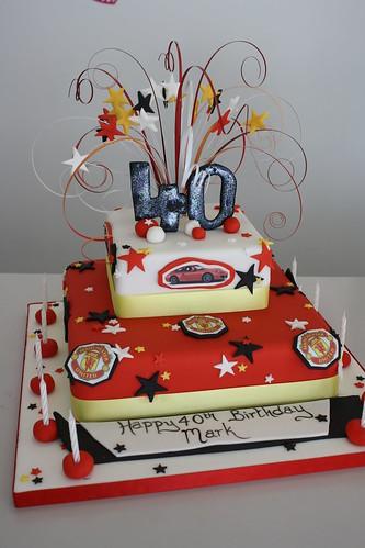 Awe Inspiring Cake Man Utd A Photo On Flickriver Funny Birthday Cards Online Elaedamsfinfo