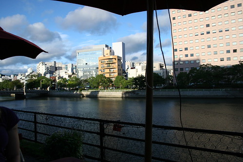 Riverside cafe view