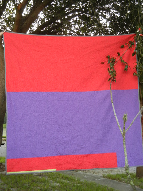 Warm/cool quilt - the back