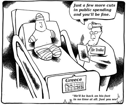 Greece is cutting public spending to the bone by Teacher Dude's BBQ