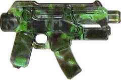 Rare Camo BrickArms - Trans Blue Apoc SMG with Jungle Camo