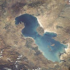 Aerial view of Lake Urmia