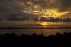 Costa Rica Sunset (GeoSnapper) Tags: ocean sunset vacation sky sun nature water river nikon costarica tropics puravida rainyseason