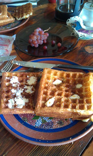 Waffles made by Anna