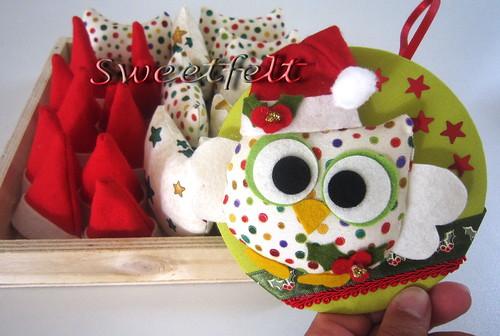 ♥♥♥ Natalina ... a corujinha deste Natal! by sweetfelt \ ideias em feltro
