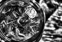 Cold (hbmike2000) Tags: bw cold ice water glass blackwhite nikon bokeh d200 hdr playboybunny 100pictures hbmike2000