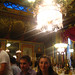 Steph under the chandelier