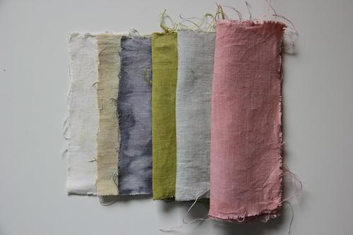 summer dyeings palette - linen