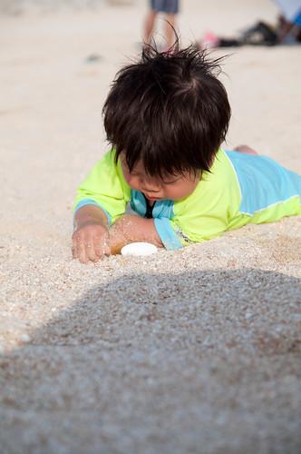 砂浜でずりばい