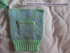 Pocket in fairisle pattern with plain top (phil_1987) Tags: reed silver knitting 4 machine course yarn correspondence ply knitmaster