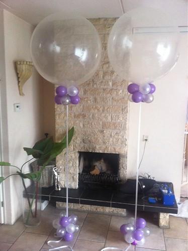 Cloudbuster Rond Transparante Topballon met Topiary