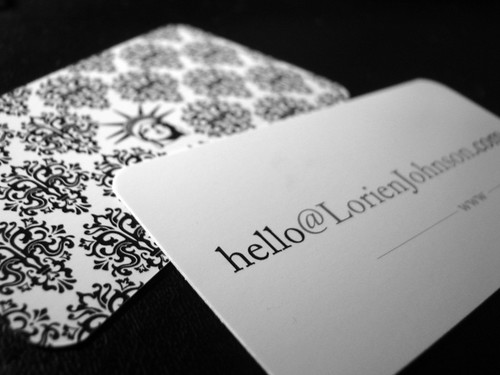 Business Card in Black and White