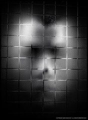 Beyond the Grid (MDunckley) Tags: blackandwhite bw selfportrait abstract face person blackandwhitephotography abstractportrait nikoncapturenx2 nikon35mmf18g nikond7000 mdunckley mikedunckley