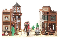 mainstreet (marshal banana) Tags: street city town lego western historical wildwest diorama
